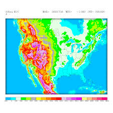 Mexico Precipitation Map by Rapid Update Cycle Ruc