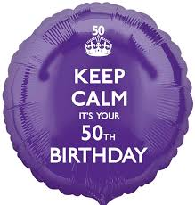 50 balloons delivered keep calm 50th birthday balloon delivered inflated in uk