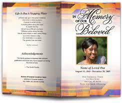 colorful kente cloth pattern funeral memorial program template design
