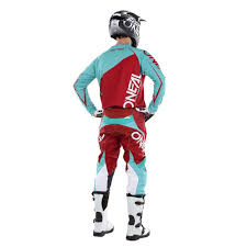 oneal motocross gear oneal 2017 mayhem lite blocker jersey pant package red teal