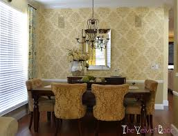 Dining Room Redo Using The Kerry Damask Stencil  Stencil Stories - Damask dining room chairs
