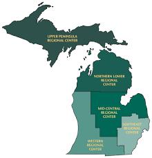 Upper Michigan Map Regional Centers Mi Ahec Wayne State University