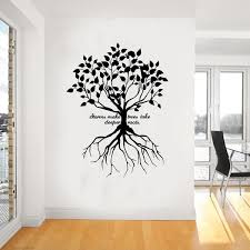 wall decals stickers home decor home furniture diy deeper roots family quote wall art giant sticker mural graphic wallart wa972