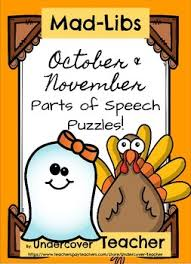 october november thanksgiving mad libs stories puzzles