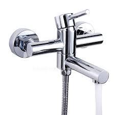 Bathtub Faucet Dripping Rotatable Bathtub Faucet Dripping Chrome Finish