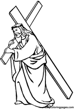 jesus being nailed to the cross coloring page lent and fifth