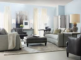 Beige And Grey Living Room Furniture Beige Sofa And Grey Leather Ottoman By Bernhardt