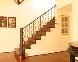Jordan Banister Railings For Stairs Interior Blacksmith Custom Designed Stair