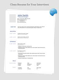 Simple One Page Resume Template 10 Best Images Of Simple One Page Resume Template One Page