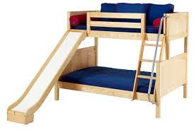 furniture elegant red blue castle bunk bed slide for a bunk