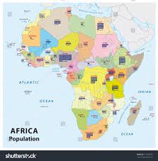 Africa Population Map by Africa Population Map Stock Vector 172189373 Shutterstock