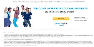 amazon 15 promo code off 40 when joining prime student ymmv