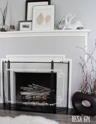 fireplace screen mini makeover besa gm