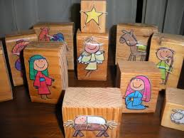 nativity modge podge could be easier than making stencils i think