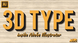 how to create 3d type in adobe illustrator tutorial youtube