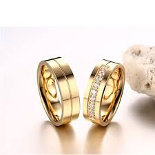personalized gold rings personalized golden stripe engraved rhinestones pave rings