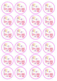 baby shower cake toppers girl it s a girl 1 baby shower birth edible premium wafer paper cupcake