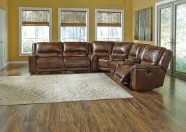 Laminate Floor Wedges Contemporary Leather Match Reclining Sectional With Wedge By