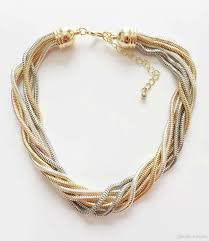 snake necklace choker images Online cheap hot snake chain braided necklace multi colours 7 rows jpg