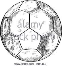 soccer ball simple line icon football game thin linear signs