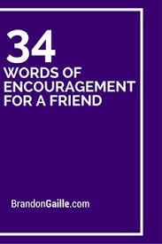 34 words of for a friend cards and