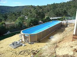 how to build a lap pool above ground lap pools prices poolmaster pools gallery