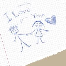 scribble i love you stock illustration image of card 68575643