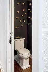 Narrow Powder Room - small modern black powder room design ideas