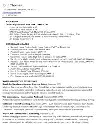 teen resume exles college senior resume exles how to write a for high s sevte