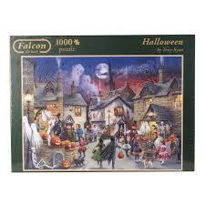 halloween puzzle games amazon com jumbo halloween jigsaw puzzle 1000 piece toys u0026 games