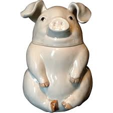 fitz and floyd fitz and floyd pig cookie jar sold on ruby