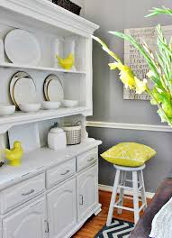 gray dining room with yellow accents for the home pinterest