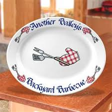 personalized barbecue platter custom 16 5 in oval bbq platter barbecue gifts