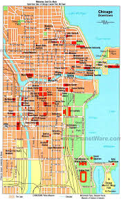 chicago map printable popular 288 list downtown chicago tourist map