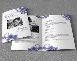 Memorial Pamphlets Samples Funeral Brochure Templates Free Psd Templates Creative Template