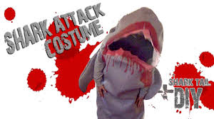 original halloween costume idea shark attack humorous and funny