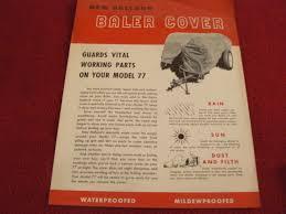 new holland baler cover for model 77 baler dealer u0027s brochure