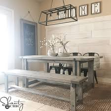 Farm Tables With Benches Diy Industrial Farmhouse Table And How To Video Shanty 2 Chic