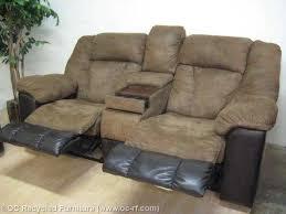 brown microfiber leather dual recliner loveseat 4 jpg