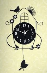 themed clock black themed metal swing bird wall end 8 12 2019 10 15 pm