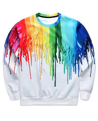 free shipping dripping paint crewneck new arrival online store