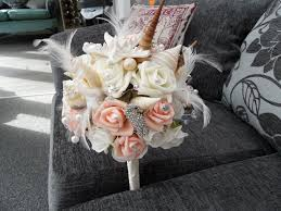 wedding bouquets with seashells seashell and wedding bouquet and buttonholes