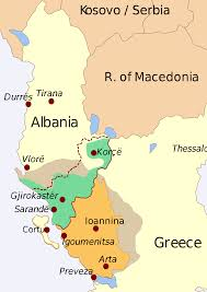 Map Of Greece And Surrounding Countries by Northern Epirus Wikipedia