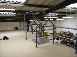 mezzanine floor installation at protec in warrington