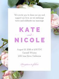 photo wedding invitations make your own wedding invitations for free adobe spark