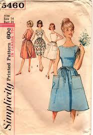 v shaped dress pattern simplicity 5460 1960s misses back wrap dress pattern mother daughter