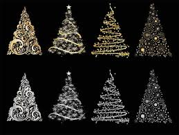you will receive 8 cute christmas tree clip art 3 in x 4 in png