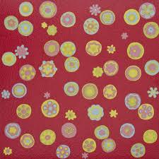 vinyl flooring tiles self adhesive red flowers 1m2 amazon co