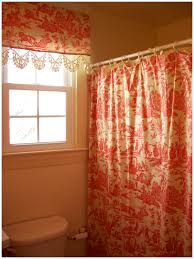 shower curtain with matching window valance shower curtain with matching window valance 33590 retrospect red toile