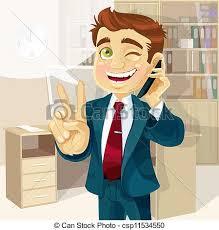 clipart uomo telefono uomo affari parlare ufficio affari telefono